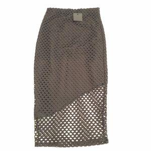 Donna Mizani Black Mesh Skirt New XS